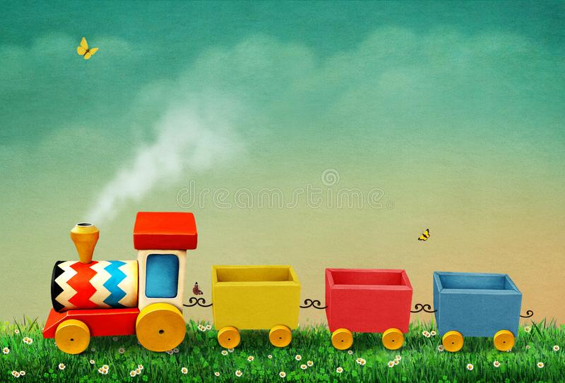 Toy train stock illustration