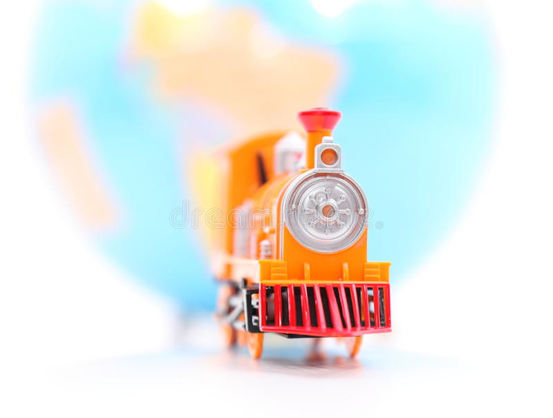 Toy Train and Globe royalty free stock photo