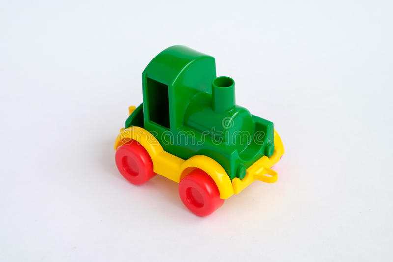 Toy train isolated on the white background royalty free stock photo