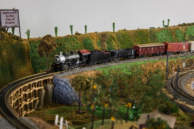 Railway model royalty free stock images
