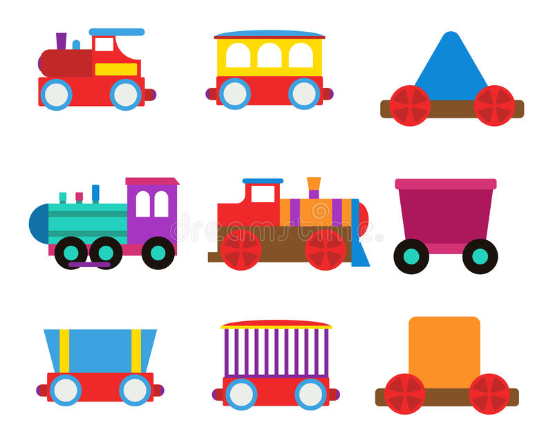 Download Toy Train Vector Illustration. Stock Vector - Image: 83713893