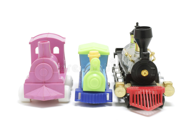 Toy Trains royalty free stock photos
