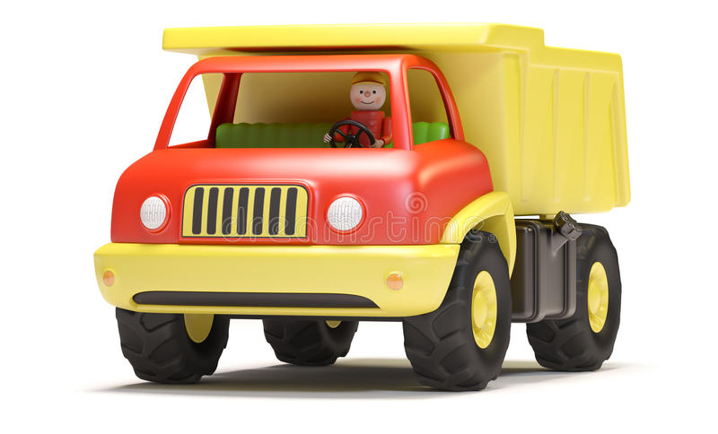 Download Toy truck stock illustration. Illustration of single - 24923401