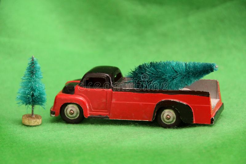 Old Red Truck With Christmas Tree In Back.Old Truck Christmas Tree Stock Images Download 143 Royalty