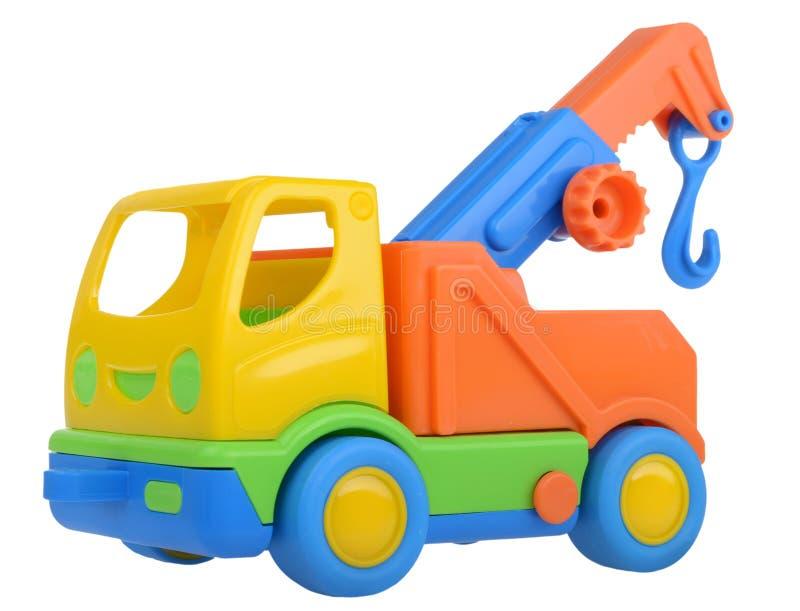 Toy truck crane stock image
