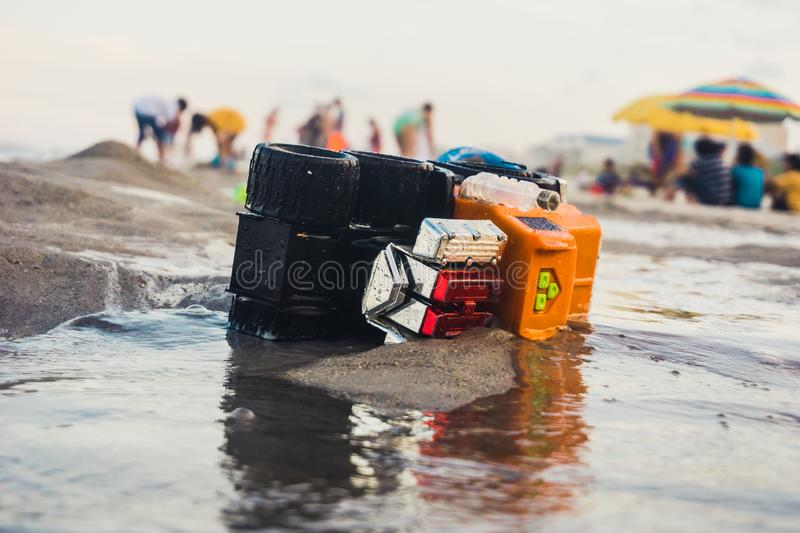 Toy Truck Washed Ashore images stock