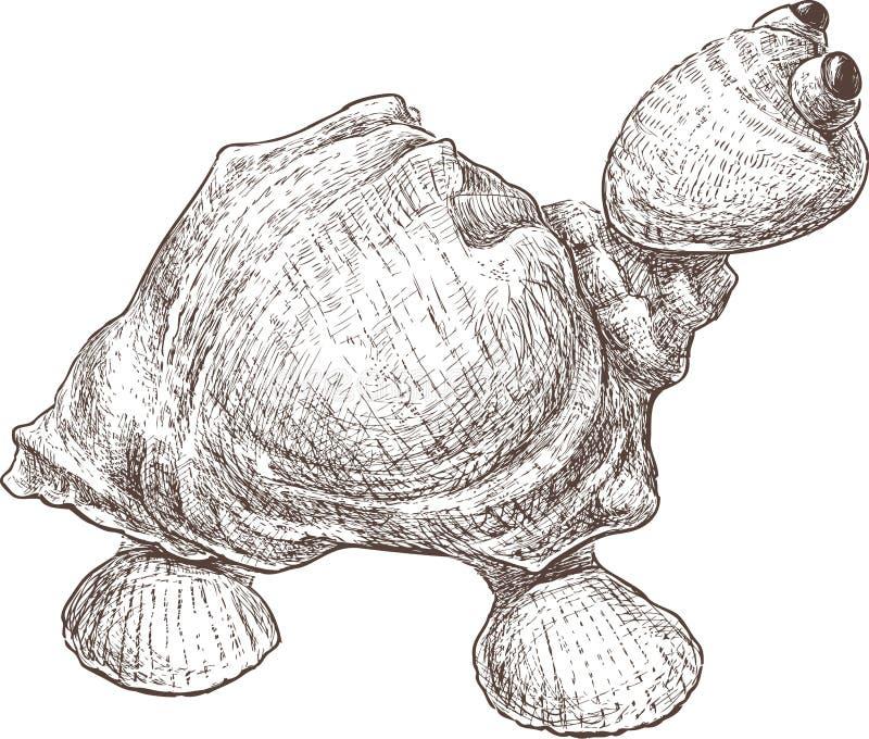 Toy turtle vector illustration