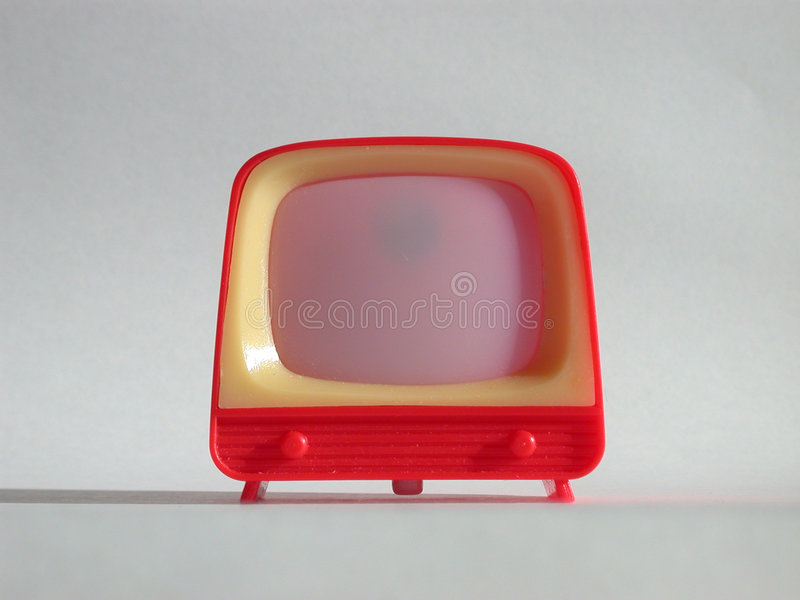 Toy TV royalty free stock image