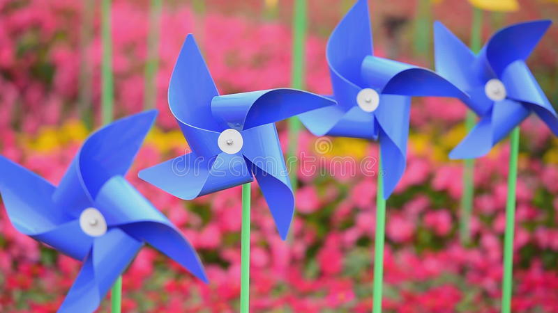 Toy windmill rotation. The toy windmill rotation by wind blowing stock footage