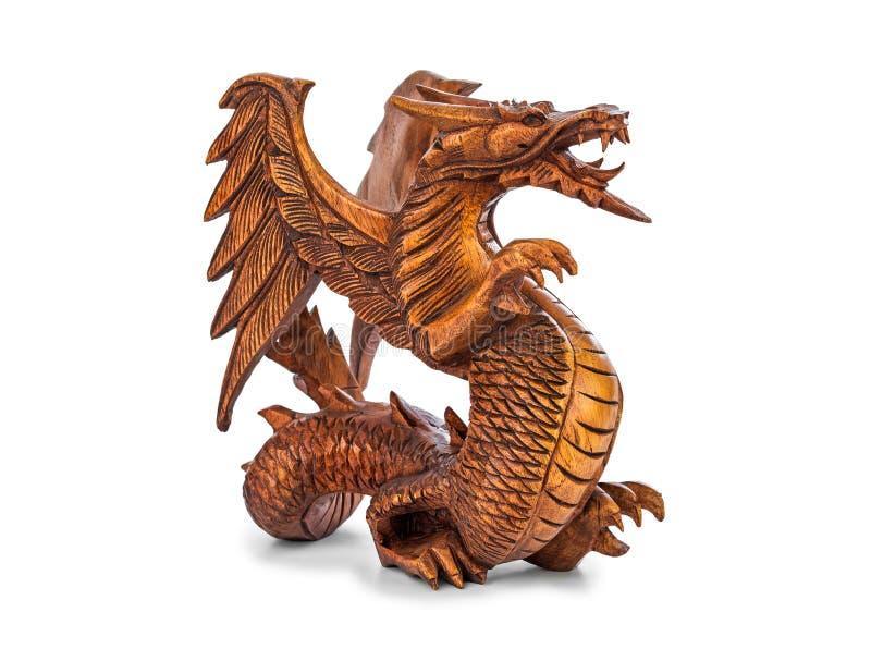 Toy wood dragon stock illustration