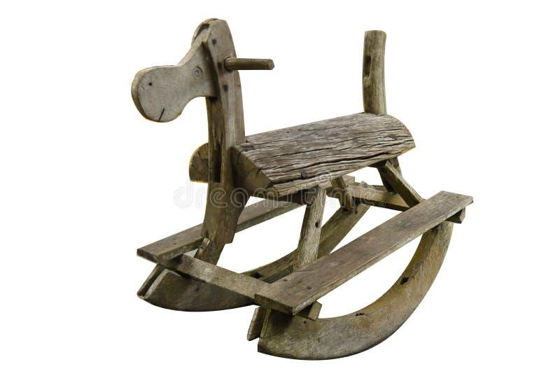 Toy wood rocking horse royalty free stock image