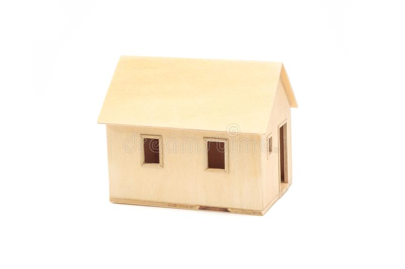 Toy wooden house model stock images
