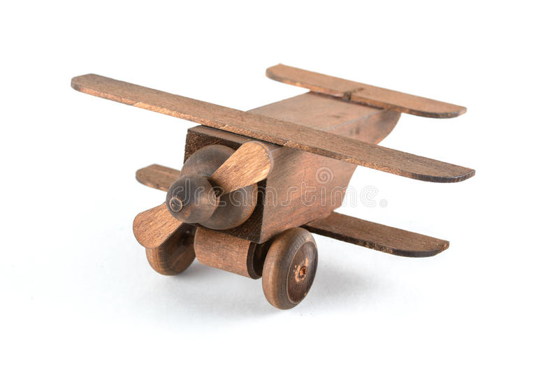 Toy wooden plane royalty free stock photography