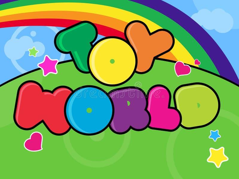 Toy world background royalty free illustration