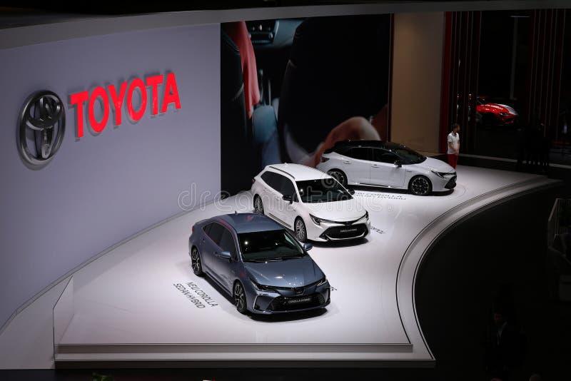 Toyatas in Geneva International Motor Show GIMS 2019 royalty free stock photography