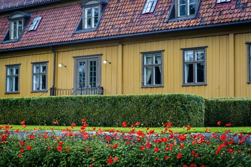 Toyen rezydencji ziemskiej dom, ogród botaniczny, Oslo, Norwegia zdjęcie stock