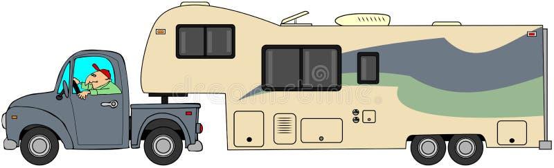 Toyhauleraanhangwagen vector illustratie