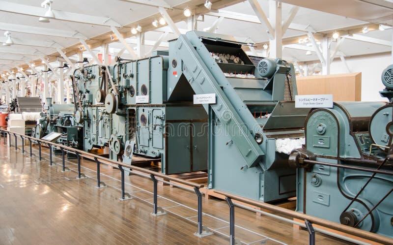 Toyoda automatisch die weefgetouw (1856) bij het Herdenkingsmuseum van Toyota van de Industrie en Technologie wordt getoond royalty-vrije stock fotografie