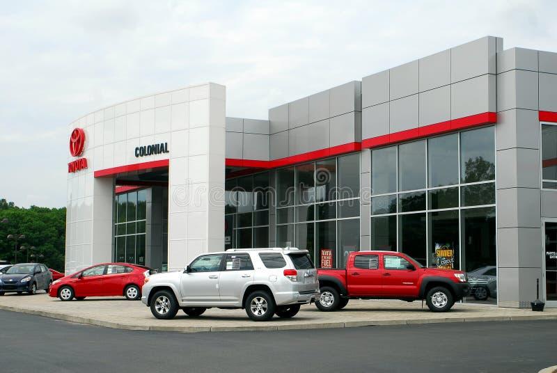 Toyota-Auto- und LKW-Verkaufßtelle stockfotografie