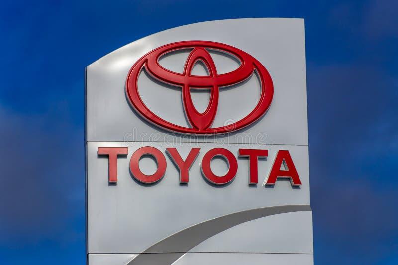 Toyota-Automobil-Verkaufsstelle-Zeichen stockfotografie