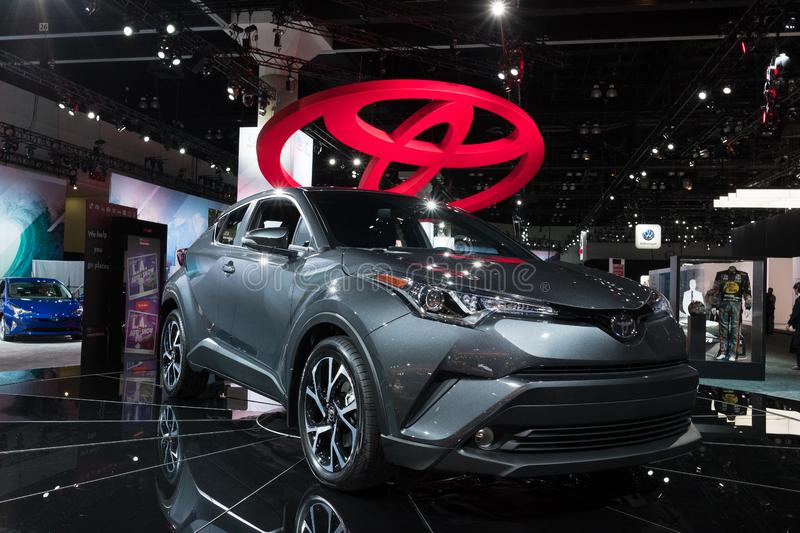 Toyota C-HR on display during LA Auto Show stock image