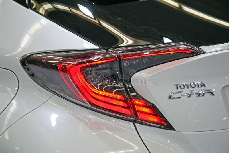 Toyota C-HR, tylna strona obrazy royalty free