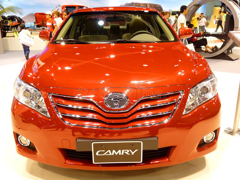 Toyota Camry. ABU DHABI, UAE - DECEMBER 10: Toyota Camry on display during Abu Dhabi Int'l Motor Show 2010 at Abu Dhabi Int'l Exhibition Centre December 10, 2010 royalty free stock image