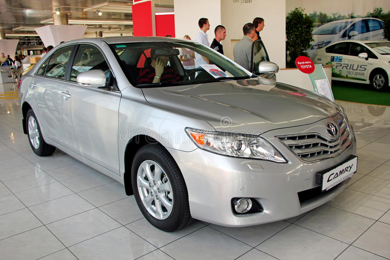 Toyota Camry. KIEV - SEPTEMBER 10: Yearly automotive-show Capital auto show 2010. September 10, 2010 in Kiev, Ukraine. Toyota Camry stock images
