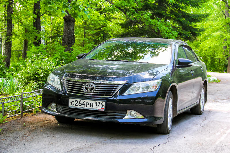 Toyota Camry. ASHA, RUSSIA - MAY 25, 2014: Motor car Toyota Camry in the city street royalty free stock images