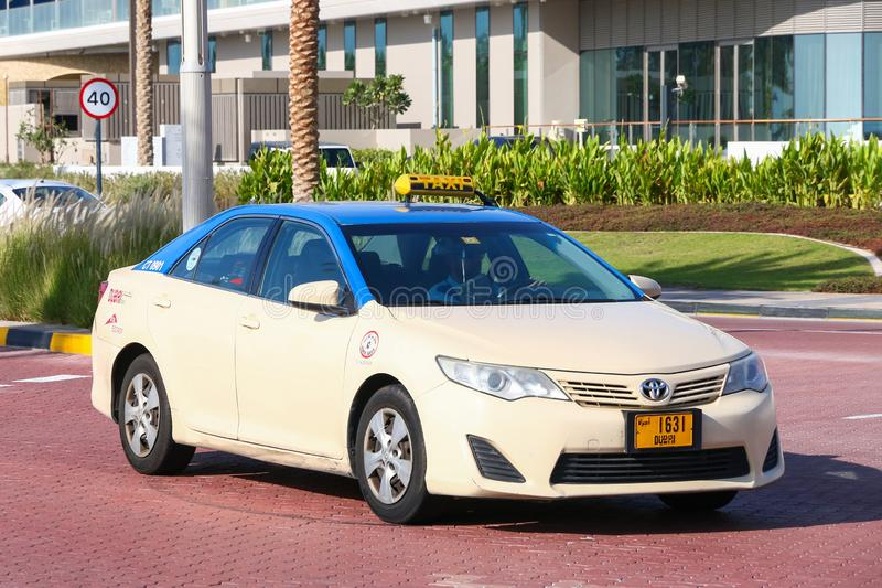 Toyota Camry. Dubai, UAE - November 15, 2018: Taxi car Toyota Camry in the city street stock image