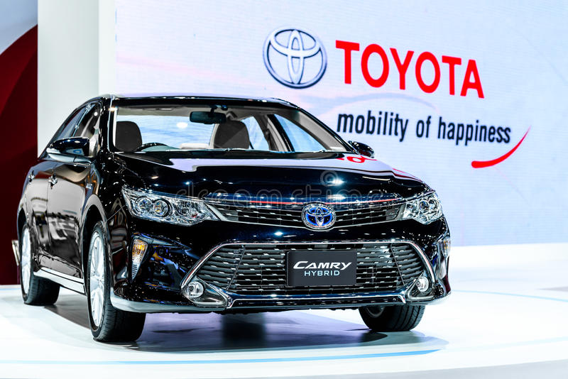 Toyota Camry Hybrid. BANGKOK - MARCH 24 : Toyota Camry Hybrid on display at The 36th Bangkok International Motor Show Art of Auto on March 24, 2015 in Bangkok stock photography