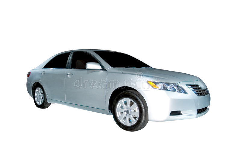 Toyota Camry Hybrid Model. A brand new 2006 Toyota Camry Hybrid model. Isolated on a white background, clipping path is included stock photos