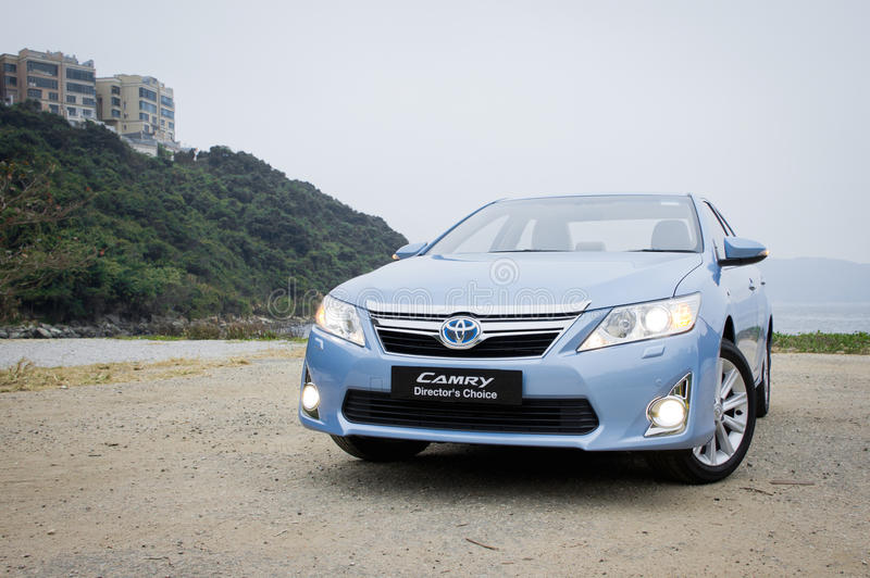 Toyota Camry Hybrid 2012. Toyota use hybrid in camry sedan royalty free stock photography