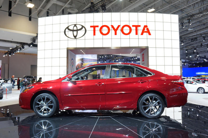 2015 Toyota Camry. Photo of 2015 toyota camry at the washington dc auto show at the washington dc convention center on 1/24/15. This is the best selling car in royalty free stock photography