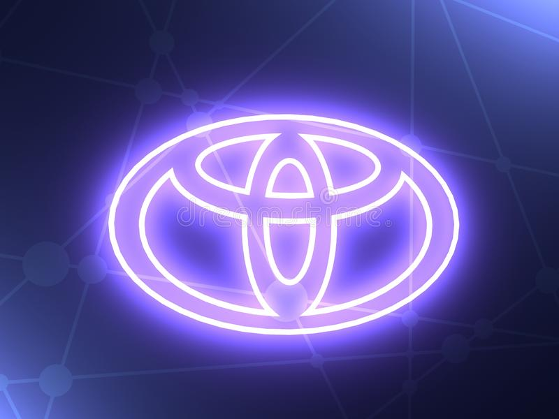 Toyota car emblem royalty free illustration