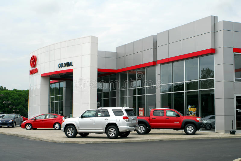 Toyota Car and Truck dealership stock photography