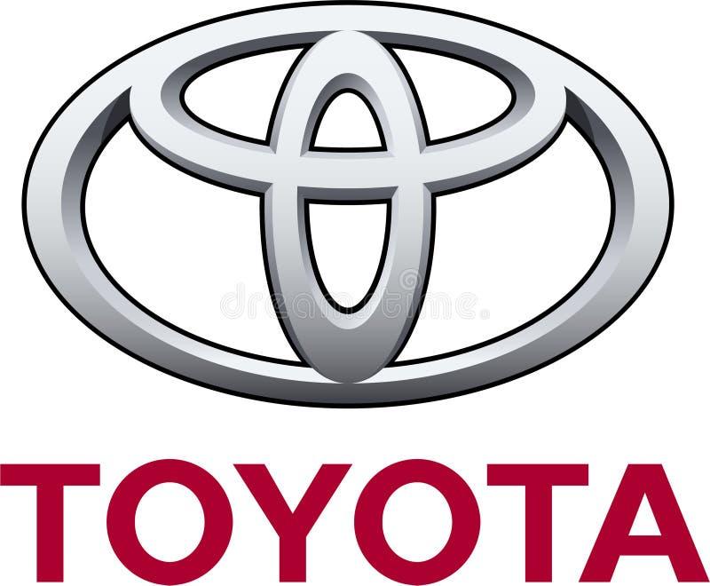 Toyota company logo royalty free illustration