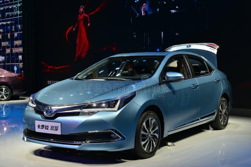 Toyota Corolla hybrid car stock images
