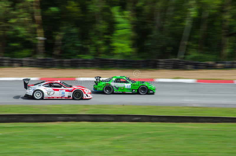 Toyota 86 e Mazda RX-7 fotografia stock libera da diritti