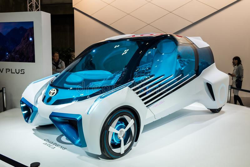 Toyota  FCV Plus, a Multifunctional Hydrogen Electricity Concept Car presented on Nagoya Motor Show 2015 in Nagoya, Japan royalty free stock photography