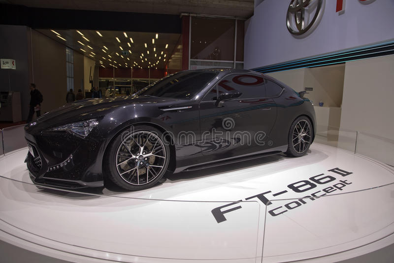 Toyota FT-86 II Concept Car. At the 81st edition of the Geneva motor show in Switzerland. Photo taken on: March 04th, 2011 stock photography