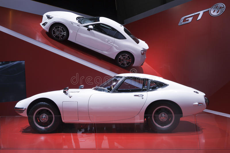 Toyota GT 6 and 2000GT stock image