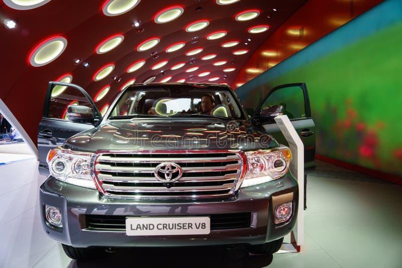 Toyota-Landkruiser V8, Motorshow Geneve 2015 royalty-vrije stock fotografie