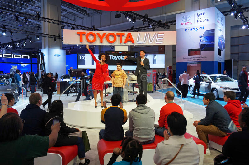 Toyota Live Show at the Auto Show royalty free stock photos