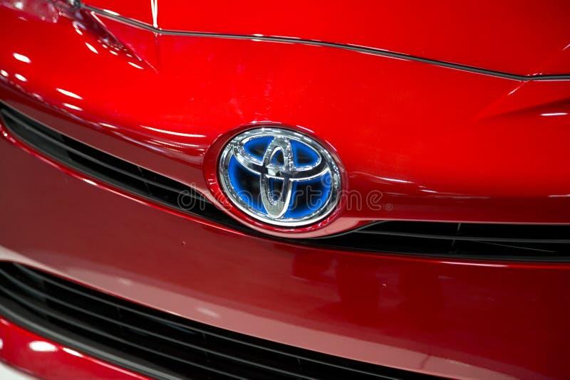 Toyota logo royaltyfria bilder