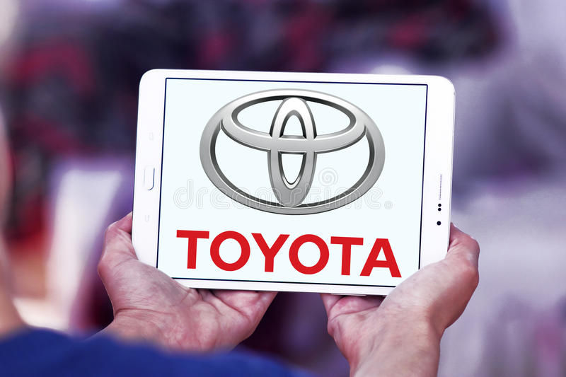 Toyota logo royalty free stock photo