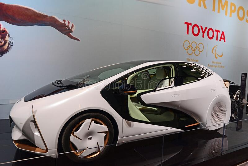 Toyota LQ Electric Concept Car at the 2020  Chicago Auto Show stock image