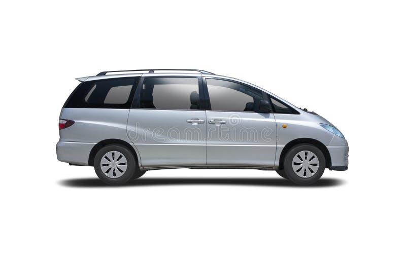 Toyota Previa-sidovy isolerad på vitt royaltyfri foto