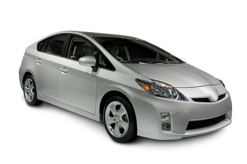 Toyota Prius Hybrid Car stock photography