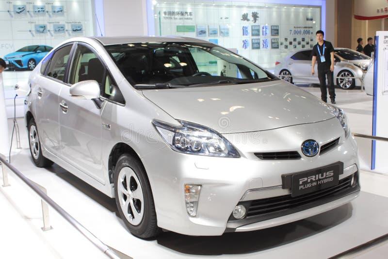 Toyota-prius insteek hybride versie stock afbeelding
